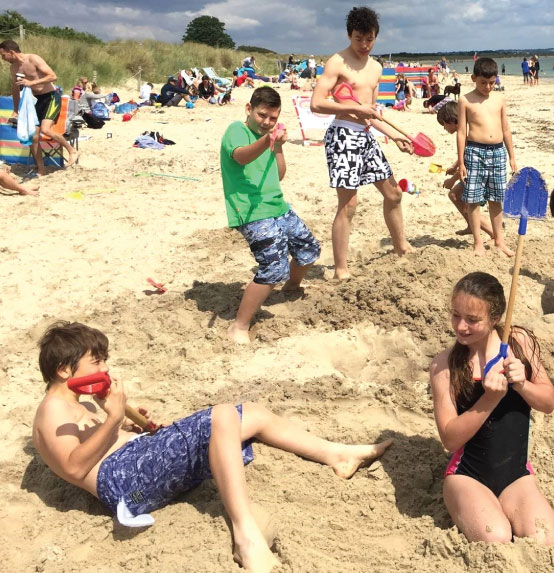 Beach fun with the Balsall Heath Cats